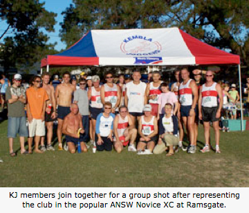 KJ members join together for a group shot after representing the club in the popular ANSW Novice XC at Ramsgate.